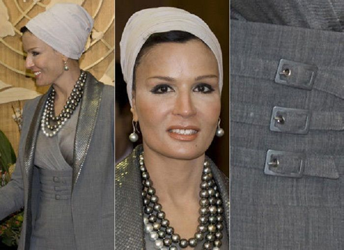 Самая модная женщина Востока. Так называют Шейху Мозу. Ее наряды и утонченный стиль, фото № 16