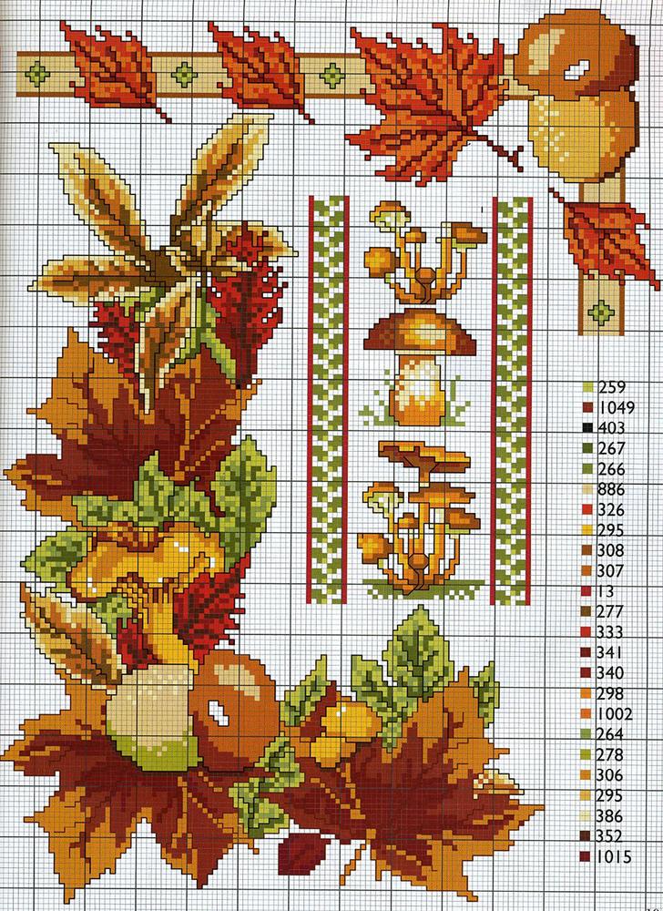 Влюбленные в осень: 50+ схем для вышивки крестиком, фото № 31