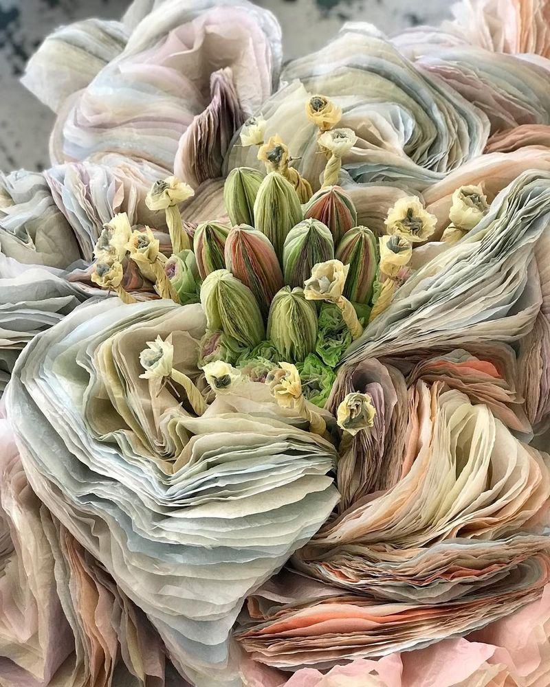 Потрясающие бумажные цветы датской художницы arianne riksen-cott ansen, фото № 25