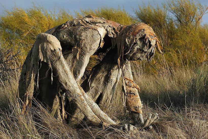 Скульптуры на природе. Пугающие и необычные, фото № 6
