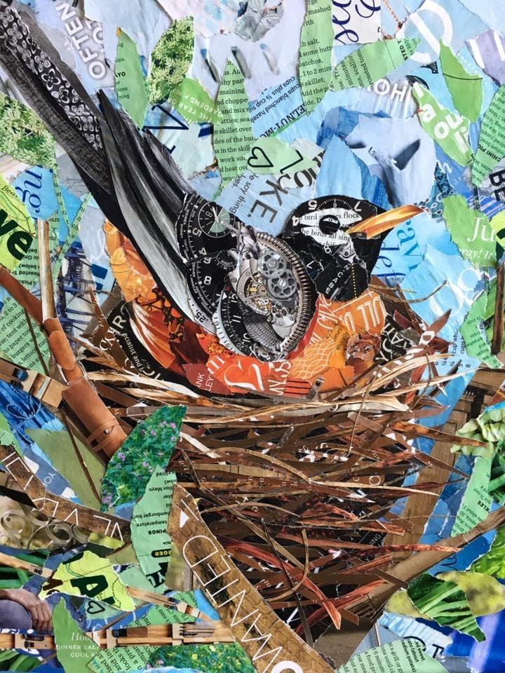 Дебора Шапиро создает коллажи из рваных кусочков бумаги и глянцевых журналов, фото № 29