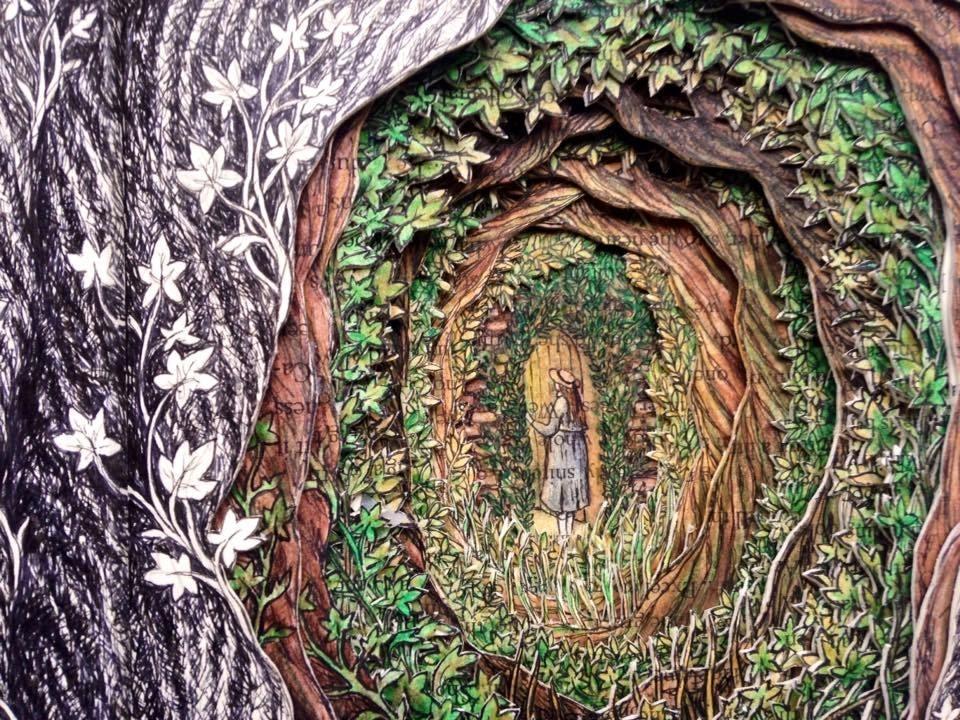 Isobelle Ouzman создаёт удивительные многослойные композиции, вырезанные из старых книг, фото № 15