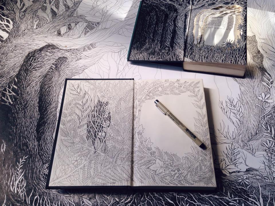 Isobelle Ouzman создаёт удивительные многослойные композиции, вырезанные из старых книг, фото № 4
