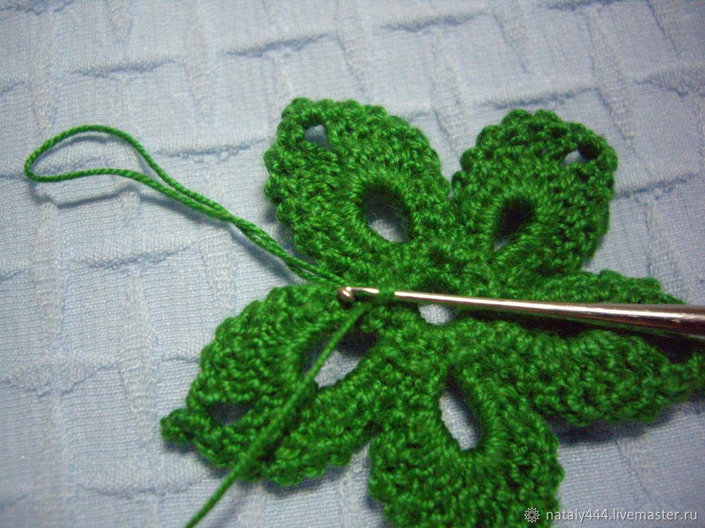 Вяжем цветок для ирландского кружева, фото № 17
