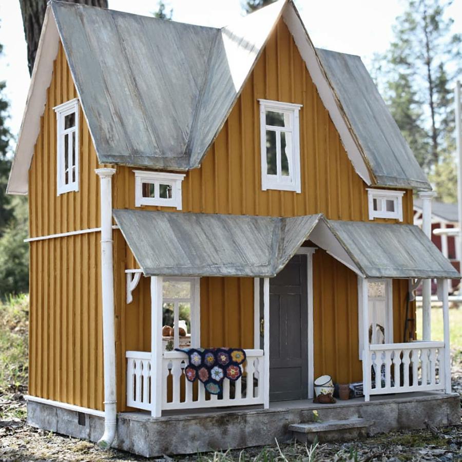 Финская художница создает дома мечты... в миниатюре, фото № 16