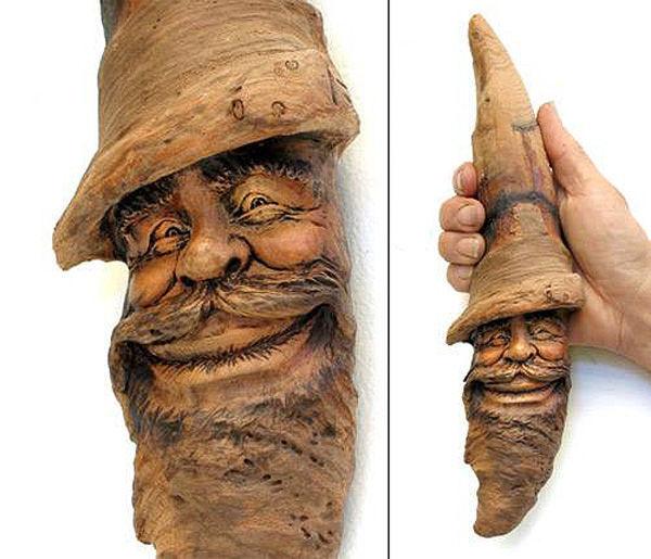 Нэнси Татл превращает коряги и обломки деревьев в сказочные деревянные скульптуры, фото № 15