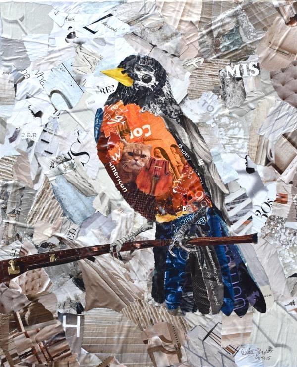 Дебора Шапиро создает коллажи из рваных кусочков бумаги и глянцевых журналов, фото № 25