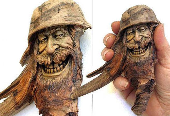 Нэнси Татл превращает коряги и обломки деревьев в сказочные деревянные скульптуры, фото № 20