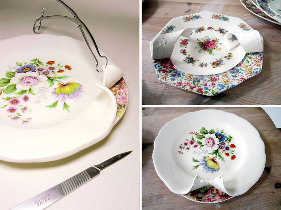Soul of Dishes: Artist Found out What is Inside Porcelain Set and Cut It, фото № 8