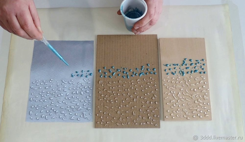 Застывший дождь, или как сделать эффект лотоса на любом материале, фото № 12