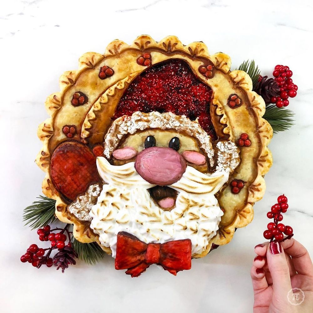 Self-Taught Cook Named Jessica Bakes Christmas Pies — And They Are Gorgeous!, фото № 6