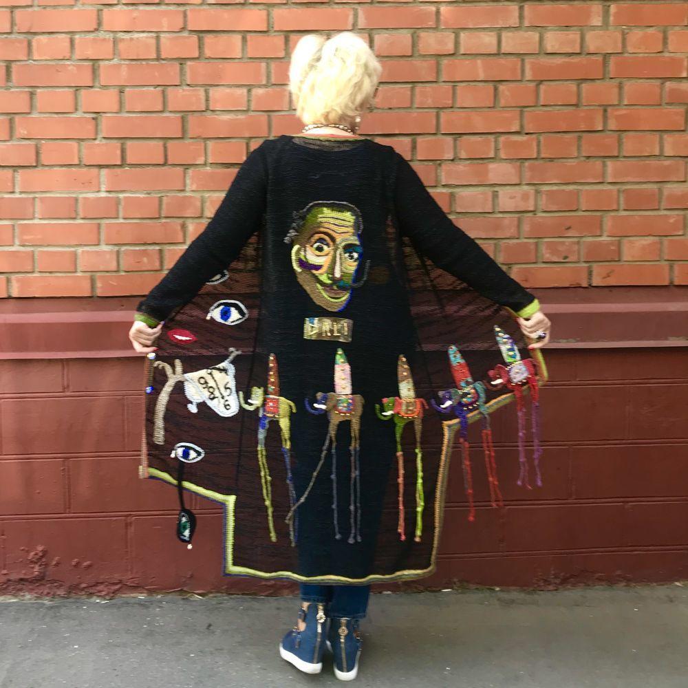 вязаный крючком портрет, модное вязание