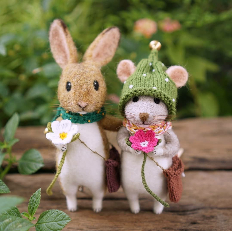 Mouse Stories: Adorable Felted Toys By Little Wool Tails, фото № 8