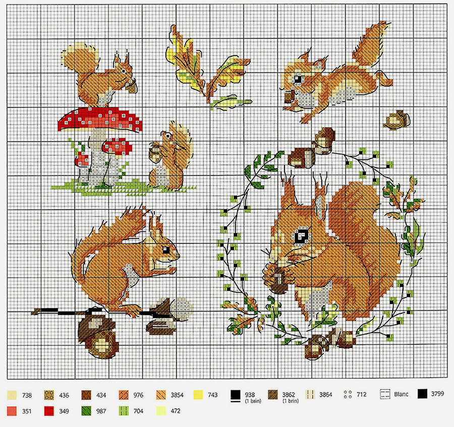 In Love With Autumn: 50+ Cross Stitch Patterns, фото № 16