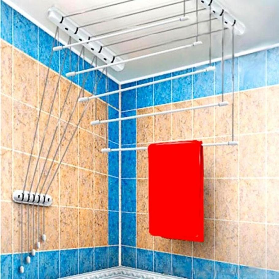 Где сушить белье в квартире красиво и удобно? (33 обычных и необычных решений), фото № 20