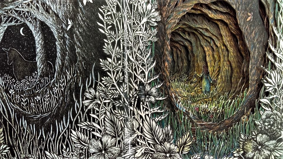 Isobelle Ouzman создаёт удивительные многослойные композиции, вырезанные из старых книг, фото № 19
