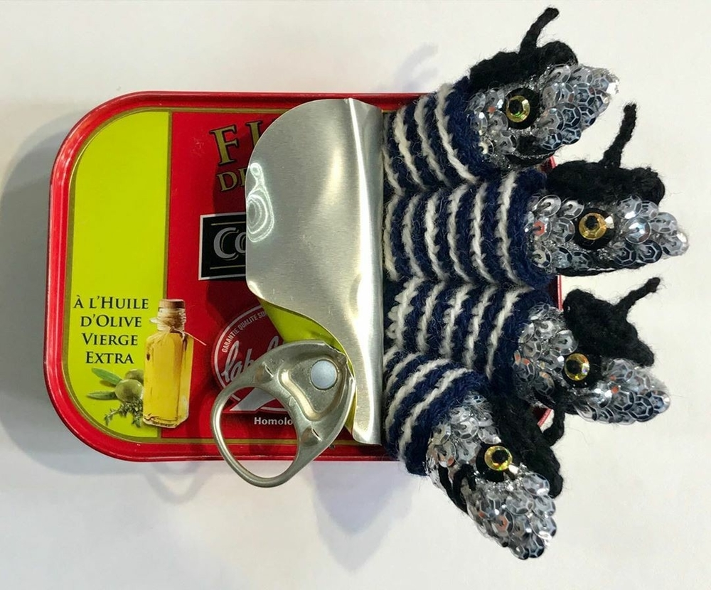 Adorable Sardines & Baguettes In Love: Knitted Food by Kate Jenkins, фото № 2