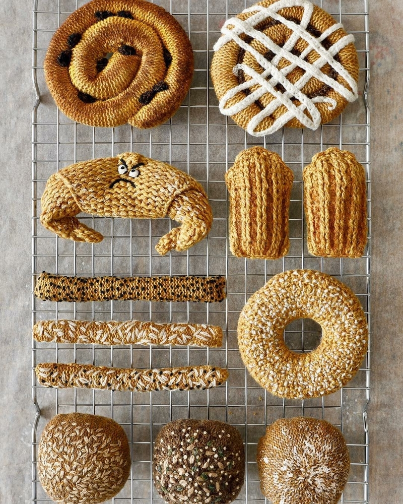 Adorable Sardines & Baguettes In Love: Knitted Food by Kate Jenkins, фото № 12