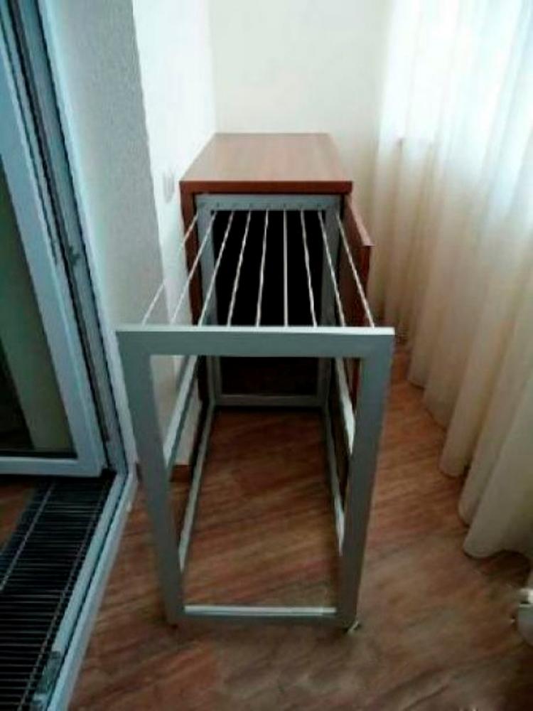 Где сушить белье в квартире красиво и удобно? (33 обычных и необычных решений), фото № 32