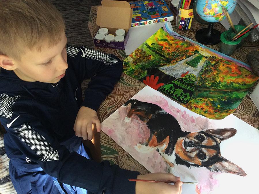 9-летний художник спасает животных из приюта: удивительный проект «Добрая кисть», фото № 11