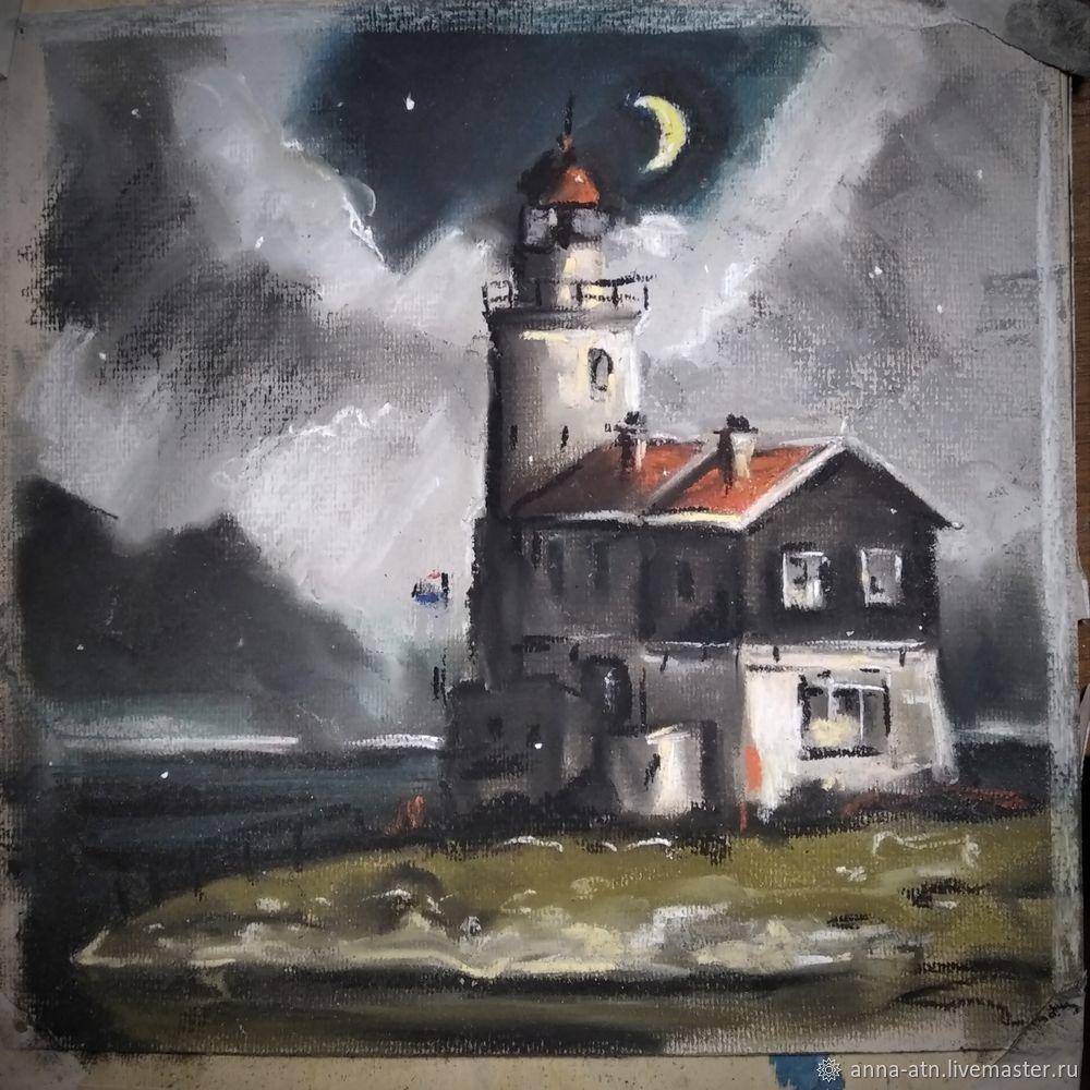 Мастер-класс картина  «Маяк»  сухой пастелью, фото № 6