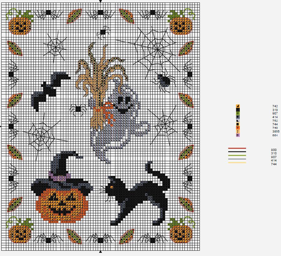 Влюбленные в осень: 50+ схем для вышивки крестиком, фото № 42