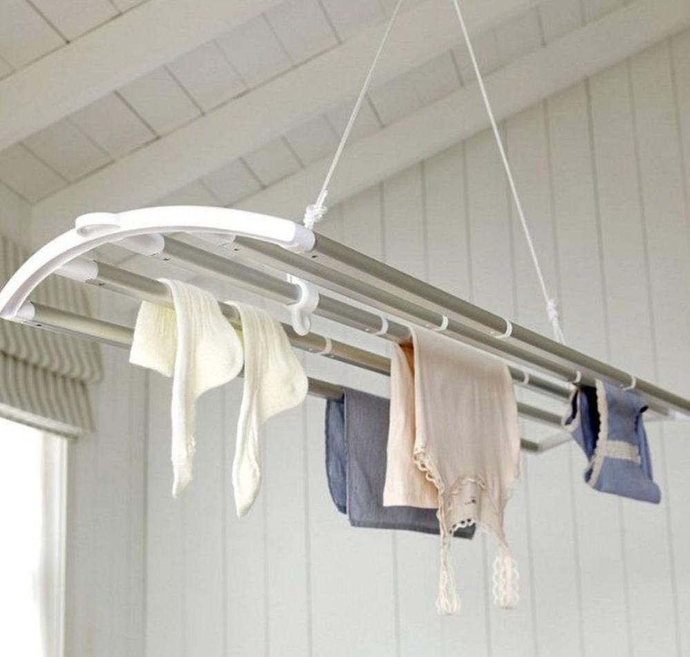 Где сушить белье в квартире красиво и удобно? (33 обычных и необычных решений), фото № 21