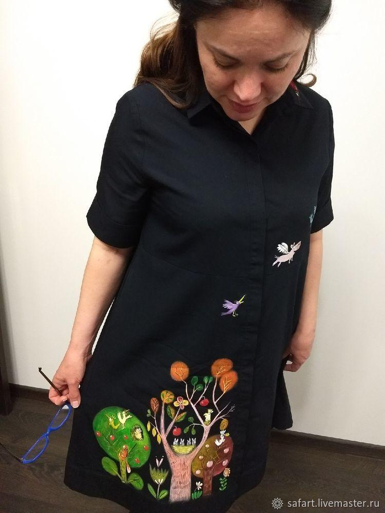 Переделываем скучное платье с помощью росписи, фото № 11