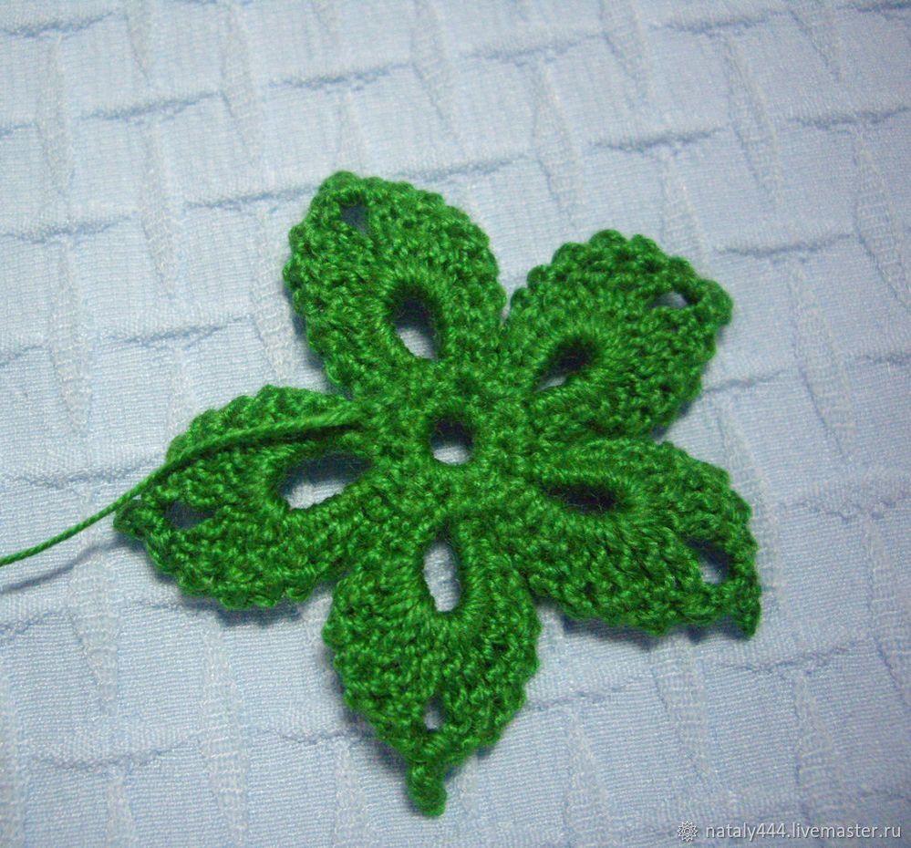 Вяжем цветок для ирландского кружева, фото № 19