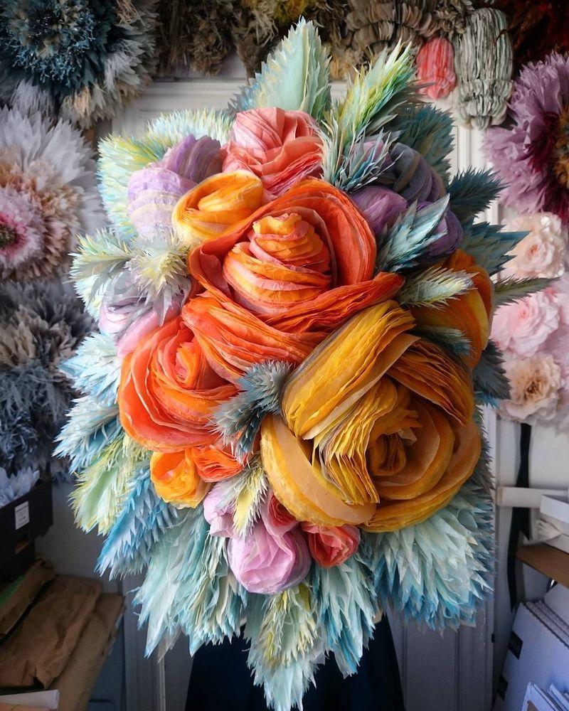 Потрясающие бумажные цветы датской художницы arianne riksen-cott ansen, фото № 9