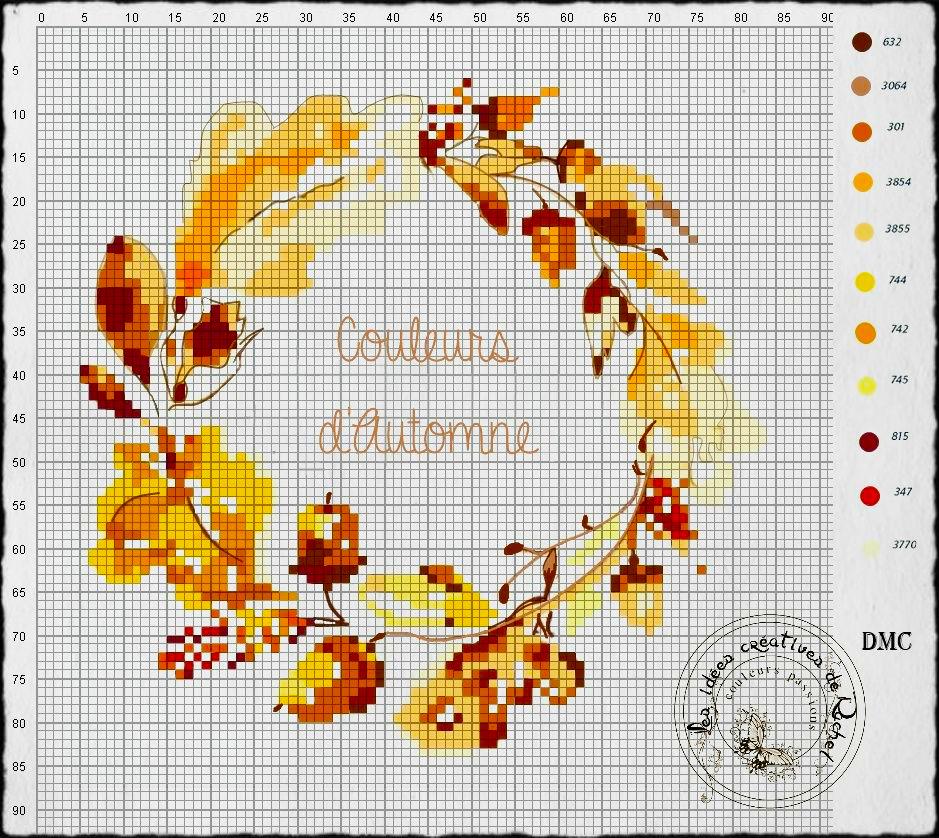 Влюбленные в осень: 50+ схем для вышивки крестиком, фото № 3