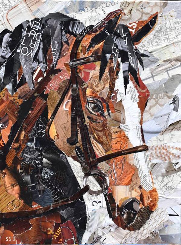 Дебора Шапиро создает коллажи из рваных кусочков бумаги и глянцевых журналов, фото № 9