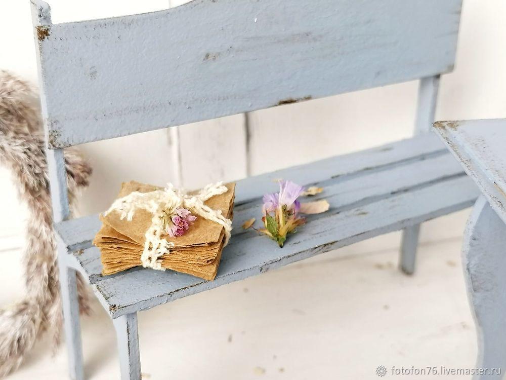 Делаем мебель для куклы из картона. Декор для фотографий, фото № 7