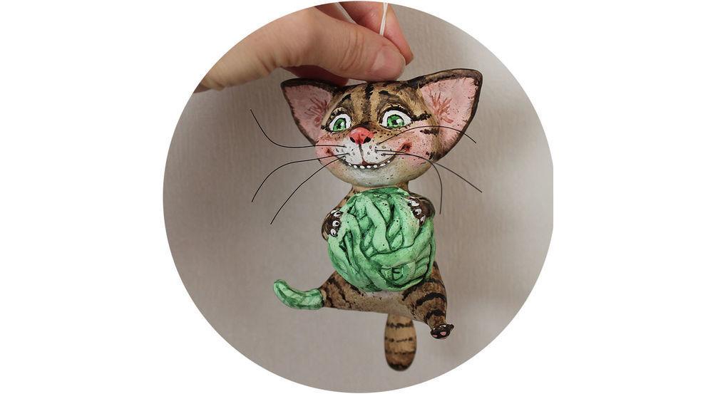 Лепим подвесного кота-воришику, фото № 1