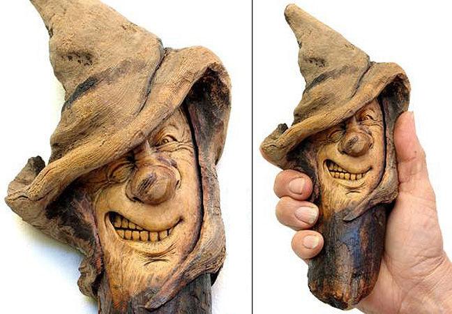 Нэнси Татл превращает коряги и обломки деревьев в сказочные деревянные скульптуры, фото № 12