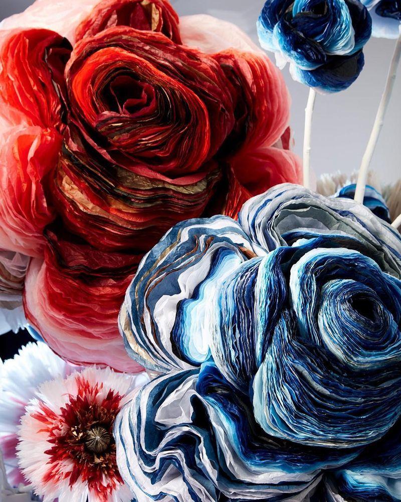 Потрясающие бумажные цветы датской художницы arianne riksen-cott ansen, фото № 6