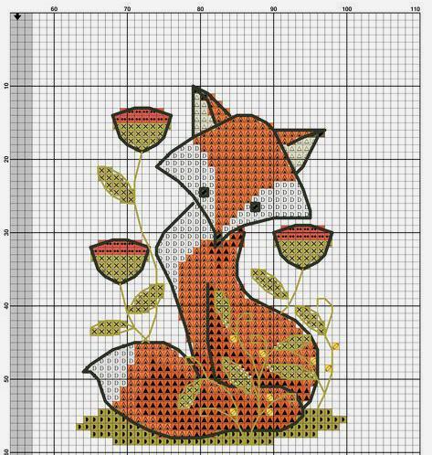 Влюбленные в осень: 50+ схем для вышивки крестиком, фото № 9