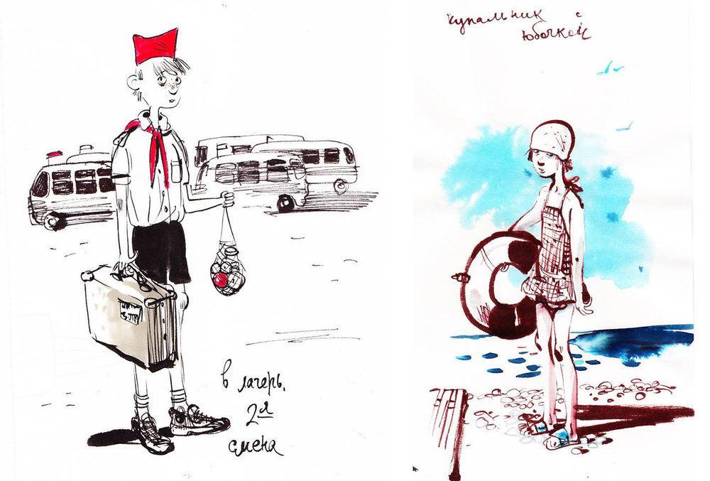 Назад в прошлое. Образ детства в рисунках Евгении Двоскиной, фото № 45