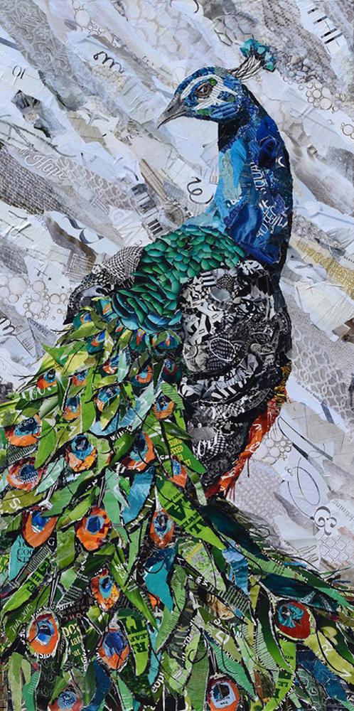 Дебора Шапиро создает коллажи из рваных кусочков бумаги и глянцевых журналов, фото № 31