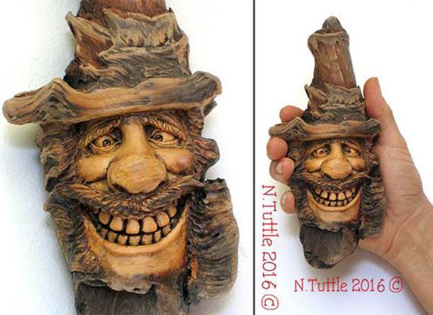 Нэнси Татл превращает коряги и обломки деревьев в сказочные деревянные скульптуры, фото № 39