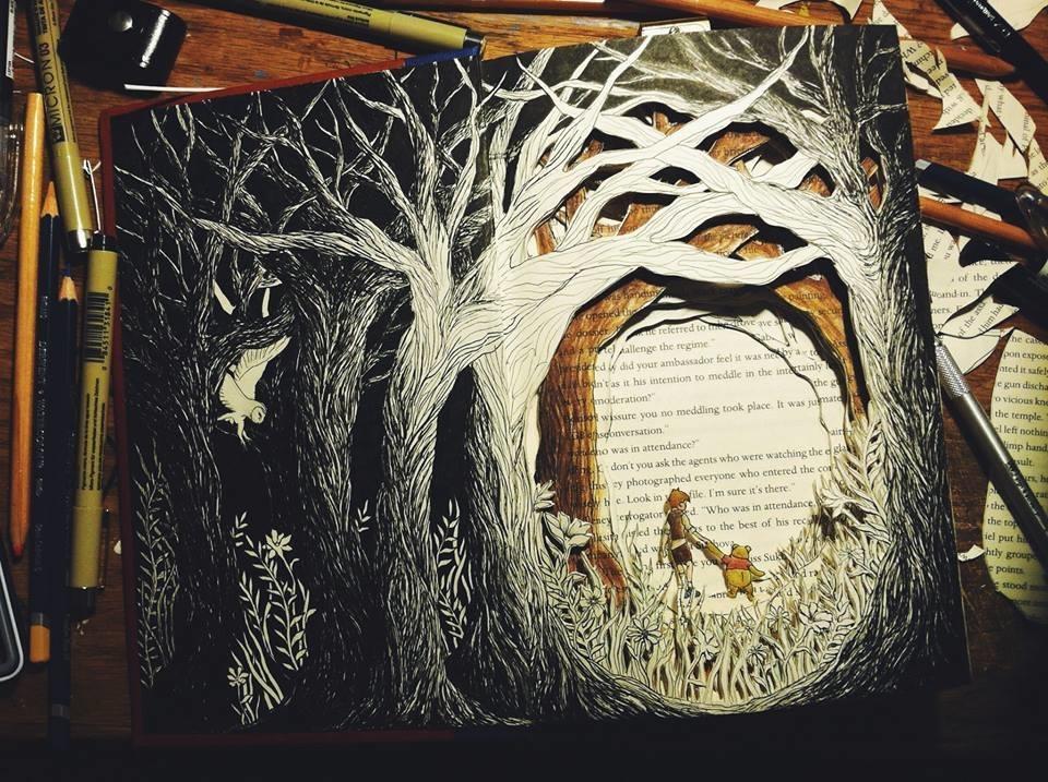Isobelle Ouzman создаёт удивительные многослойные композиции, вырезанные из старых книг, фото № 31