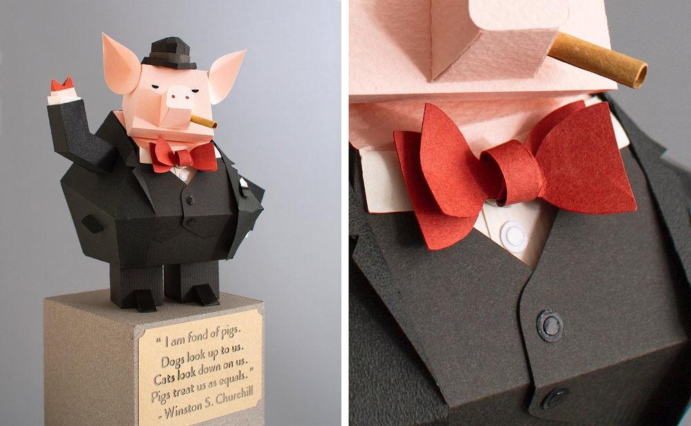Повелитель бумаги inus ui создаёт маски и костюмы из цветного картона, фото № 2