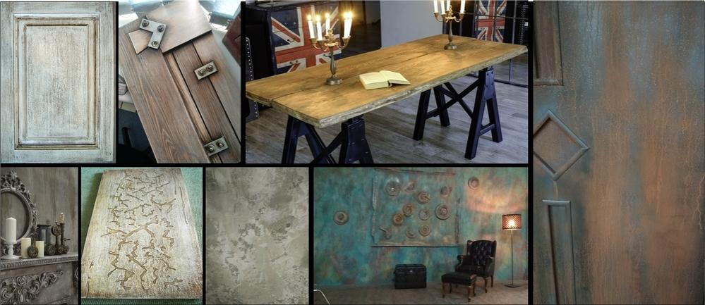 Декор мебели и интерьера в стиле лофт, фото № 1