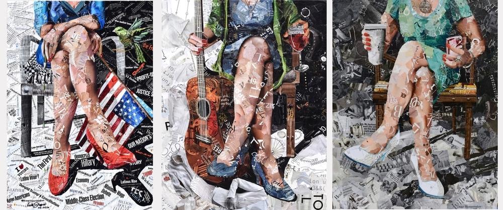 Дебора Шапиро создает коллажи из рваных кусочков бумаги и глянцевых журналов, фото № 46