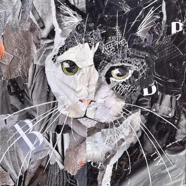 Дебора Шапиро создает коллажи из рваных кусочков бумаги и глянцевых журналов, фото № 8