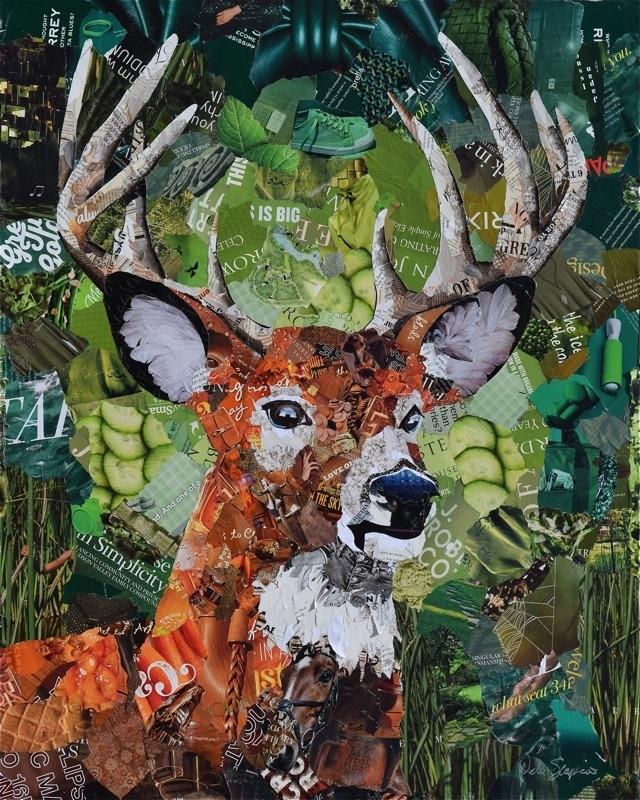 Дебора Шапиро создает коллажи из рваных кусочков бумаги и глянцевых журналов, фото № 15