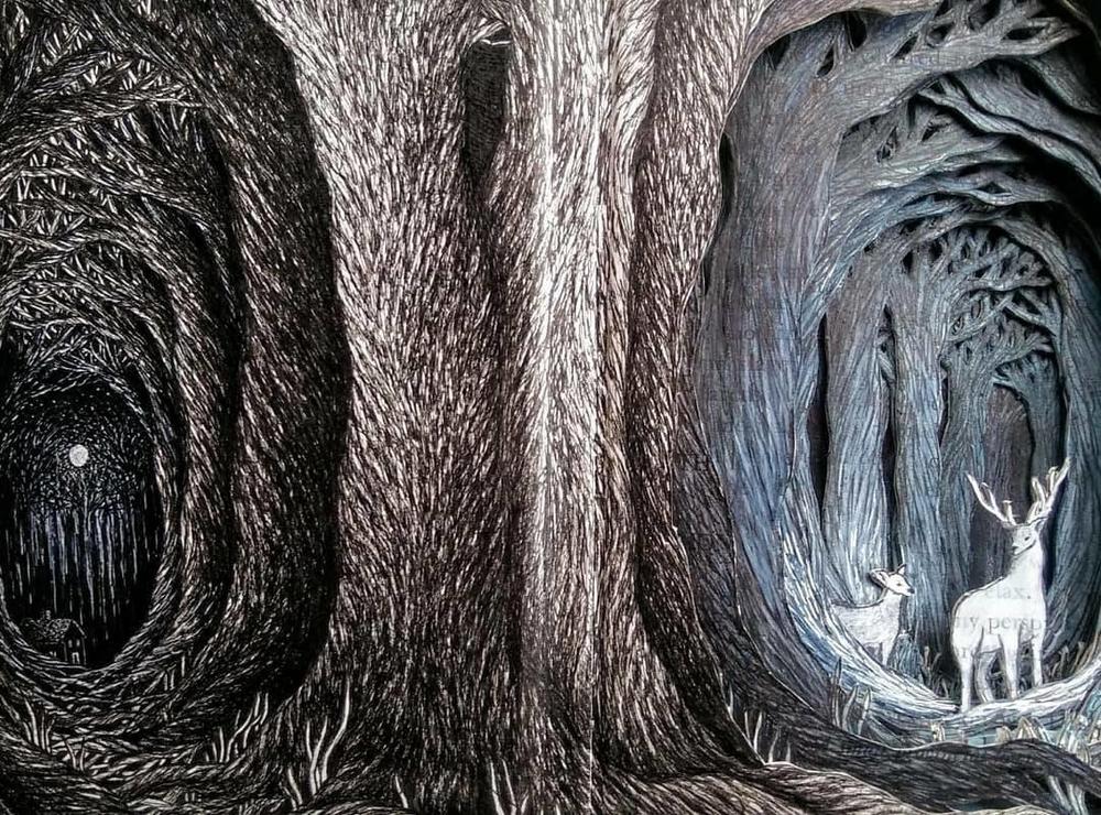 Isobelle Ouzman создаёт удивительные многослойные композиции, вырезанные из старых книг, фото № 23