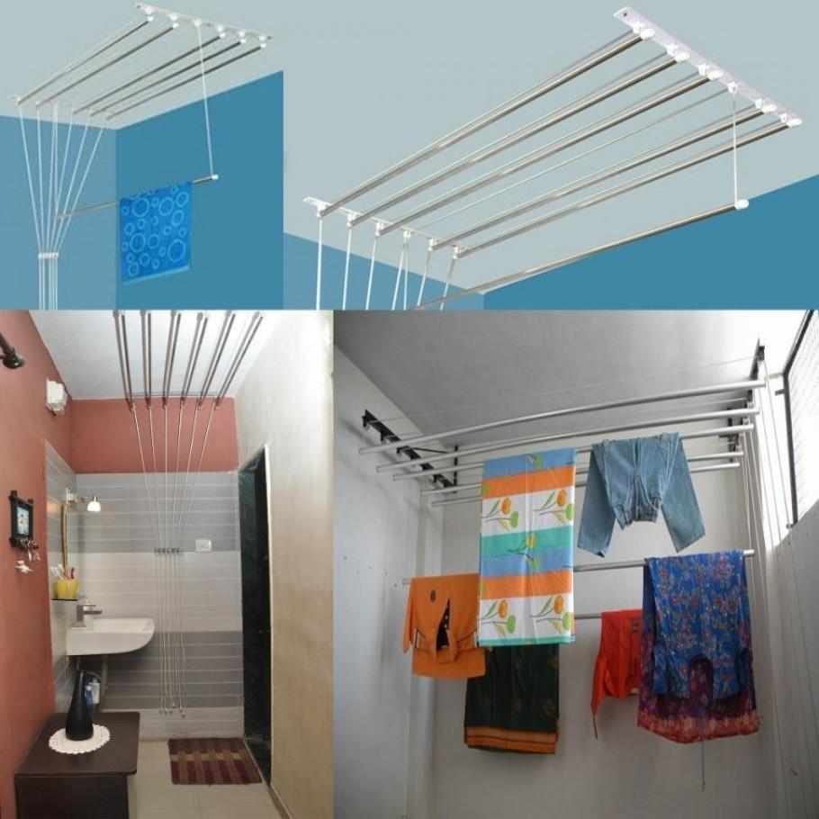 Где сушить белье в квартире красиво и удобно? (33 обычных и необычных решений), фото № 19