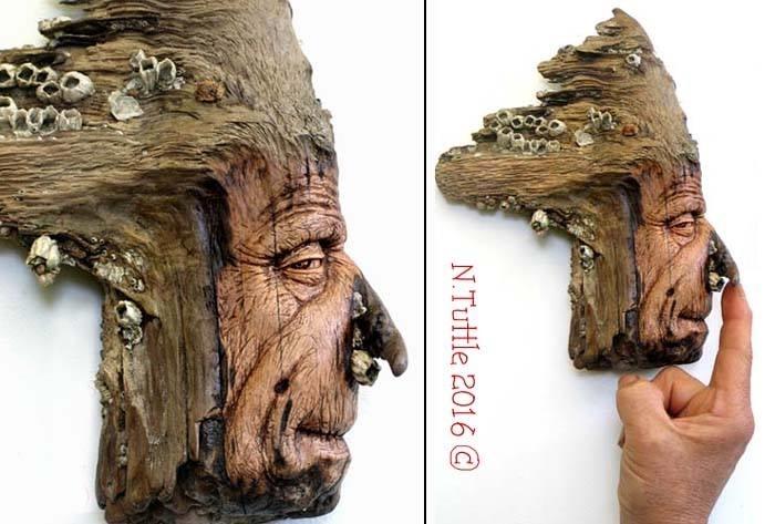 Нэнси Татл превращает коряги и обломки деревьев в сказочные деревянные скульптуры, фото № 43