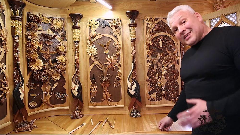 Живое дерево: этот мастер изобрел собственную технику резьбы и создает мозаики, не имеющие аналогов в мире, фото № 2